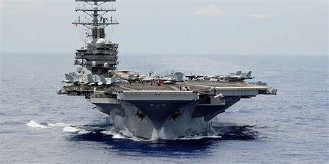 kapal selam cebol dan drone iran permalukan kapal induk as