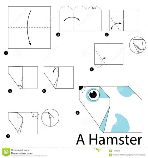Hamster Origami - step by step how to make origami a hamster