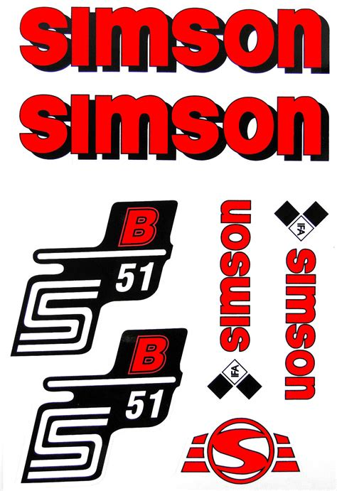 Simson Tuning Aufkleber by Simso Shop Set Klebefolie S51b Aufkleber F 252 R Simson