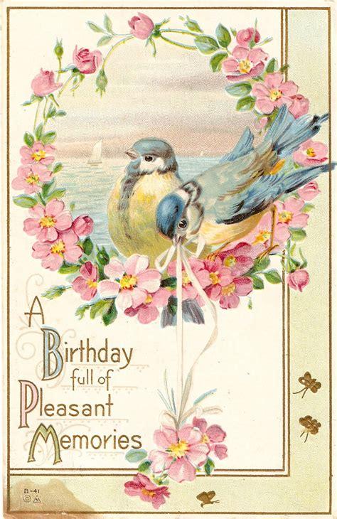 Printable Birthday Cards Vintage | love birds printable paper pinterest