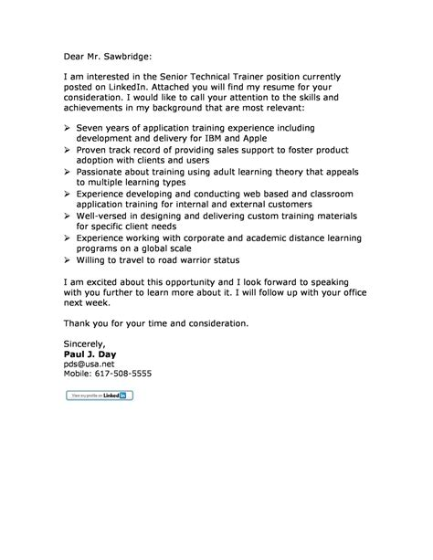 corporate trainer cover letter corporate mid experience cover letter sles
