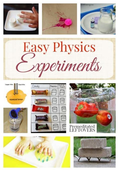 easy physics experiments  kids