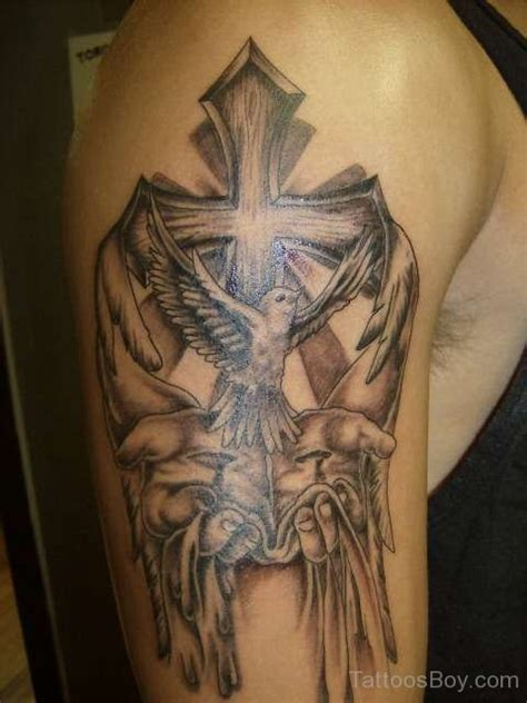 dove with cross tattoo christian tattoos designs pictures page 47