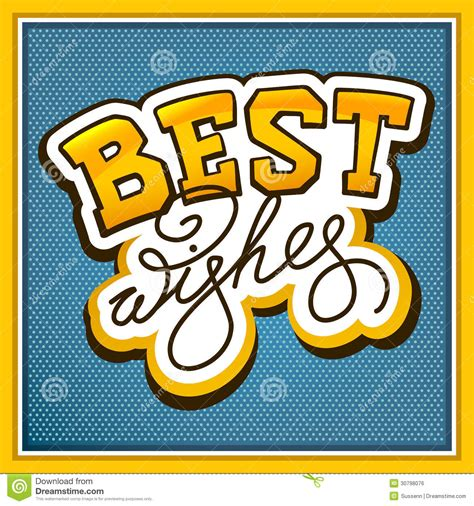 best royalty free lettering best wishes stock vector illustration of