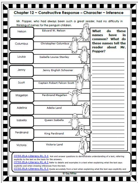 activity worksheets penguin readers teaching mr popper s penguins book units teacher