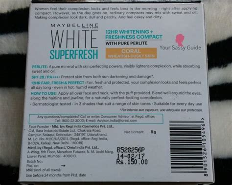 Maybelline New York White Fresh maybelline new york white fresh compact review ysg