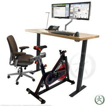 bike chair for desk the uplift upright desk bike will fit alongside a