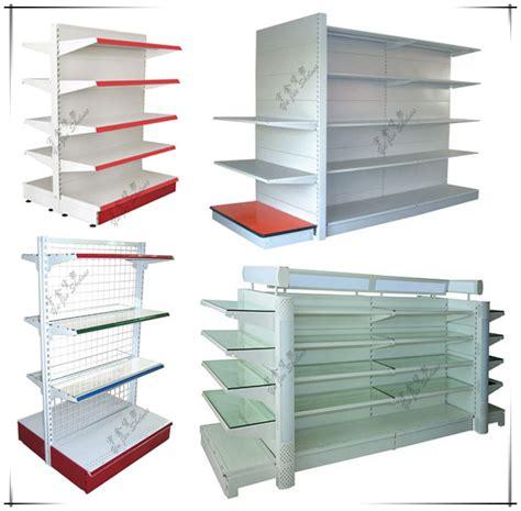different types of steel supermarket display shelf gondola