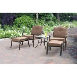 mainstays patio furniture mainstays brookwood landing 5 outdoor leisure set