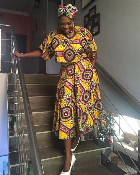 pictures of all nigerian celebrities new styles of ponytail hair nigerian celebrities who slayed in african prints over the