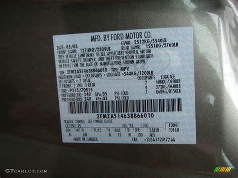 1996 ford taurus paint codes