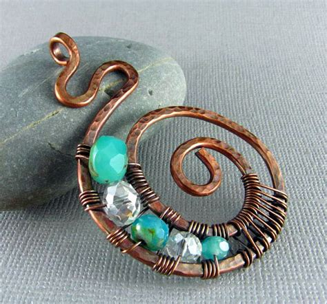 jewelry from copper wire wire wrapped pendant handmade jewelry wire wrapped jewelry