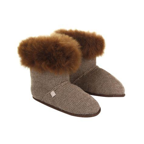 alpaca fur slippers buy alpaca fur edged slippers nutmeg amara