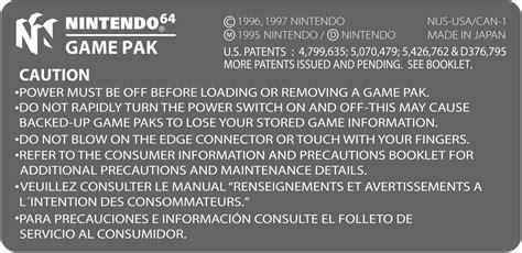 printable n64 labels nintendo 64 back label by jonywallker on deviantart
