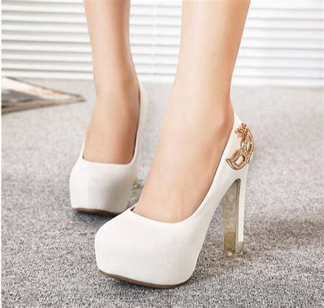 white comfortable heels rhinestone fox mask bridal heels white heel ivory shoes