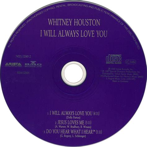 imagenes de i will always love you car 225 tula cd de whitney houston i will always love you