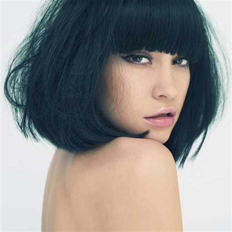long thick hair blunt bangs 10 short haircuts for straight thick hair short