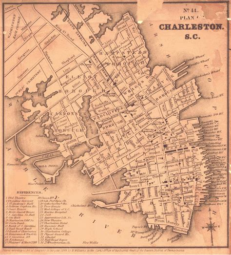 charleston sc map post denmark vesey born telemaque