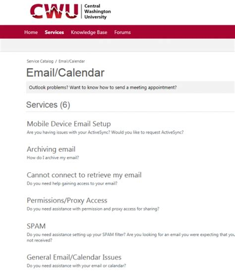Cwu It Help Desk cwu service desk how to request service through the