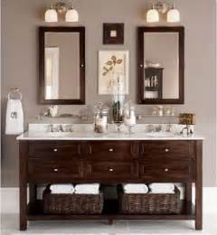 bathroom vanity mirrors ideas this look two mirrors free standing vanity