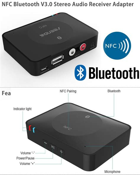 Receiver Bluetooth Stereo Audio Speaker usb nfc wireless bluetooth stereo audio receiver