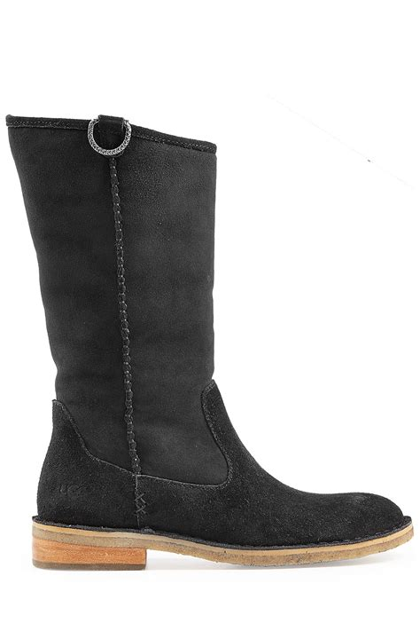 ugg boots for black ugg sheepskin boots black in black lyst
