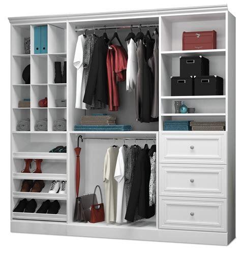 White Storage Wardrobe Versatile White 86 Storage Wardrobe From Bestar 40853
