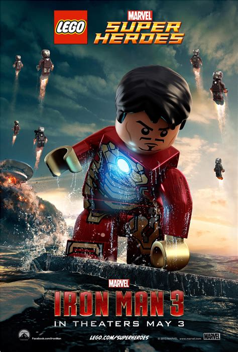 poster iron man bilafond s randomness two cool lego inspired posters for marvel s iron man 3