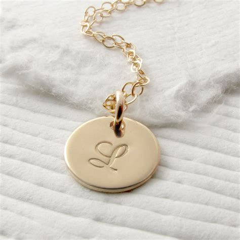14k solid gold personalized necklace gold initial necklace