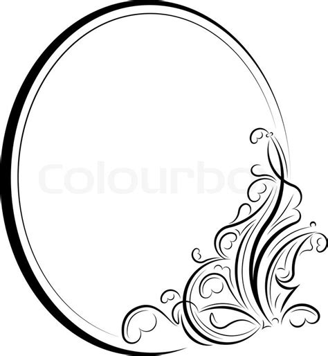 """oval frame""   Stock Vector   Colourbox"