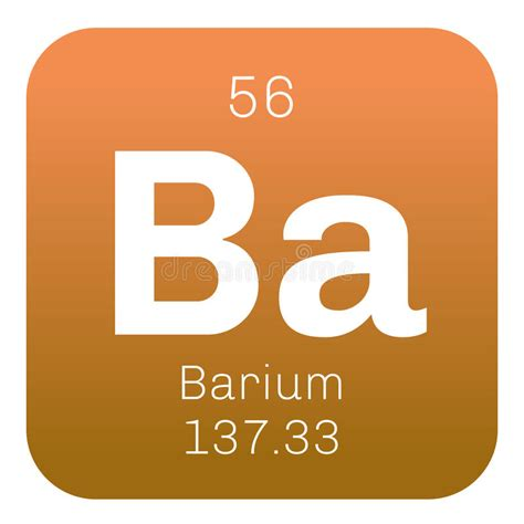 Barium Protons by Barium Chemical Element Stock Vector Illustration Of