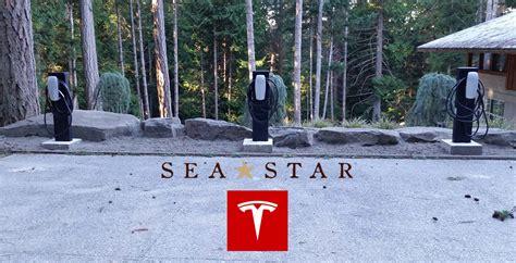 Tesla Charging Stations Island Tesla Motors Destination Charging Station At Sea