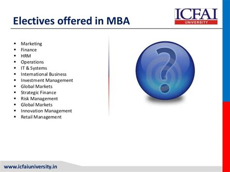 Wbs Mba Elective Modules by Mba Icfai