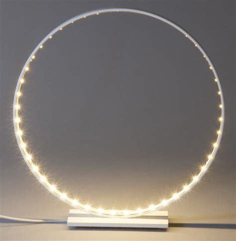 le led circulaire le de table micro led 216 30 cm blanc le deun