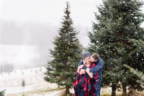 christmas tree farm pittsburgh snowy tree farm engagement session burgh brides a pittsburgh wedding