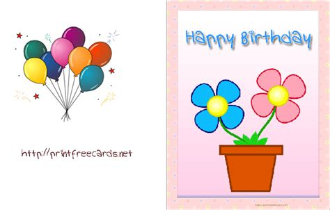 make birthday cards for free printable printable birthday card free birthday cards free