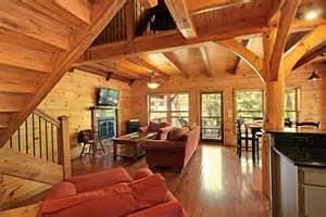 Timber Frame Home Interiors by Hybrid Timber Frame Home In Long Creek South Carolina