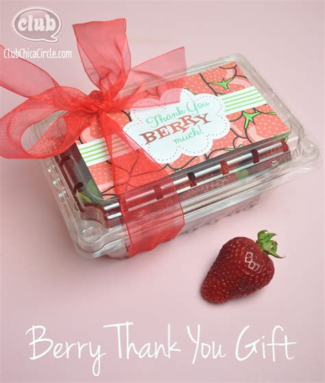 we are quot berry quot thankful gift idea