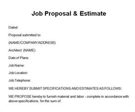 sample job proposal template 6 free documents download