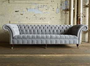 Silver Chesterfield Sofa Naples Silver Grey Velvet 4 Seater Chesterfield Sofa Abode Sofas