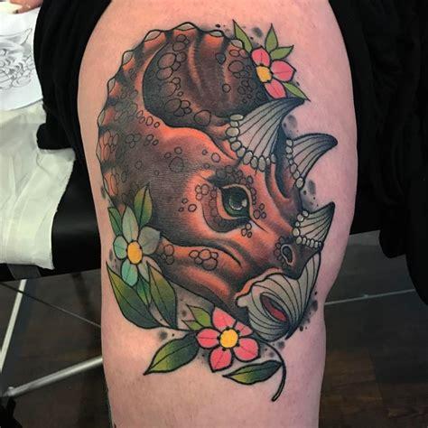 cartoon t rex tattoo 33 best dinosaur tattoo designs and ideas tattoobloq