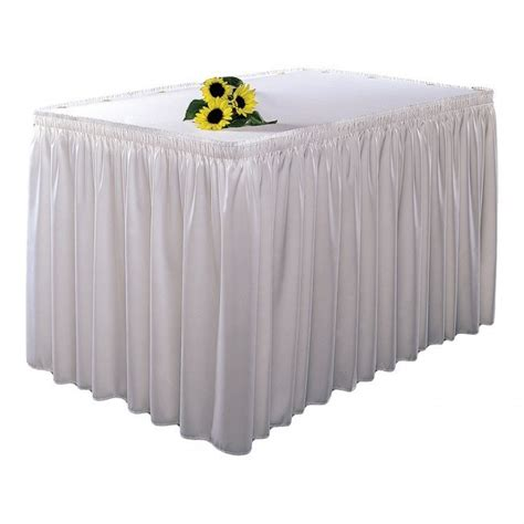 snap drape table skirting white ivory snap drape national event hire