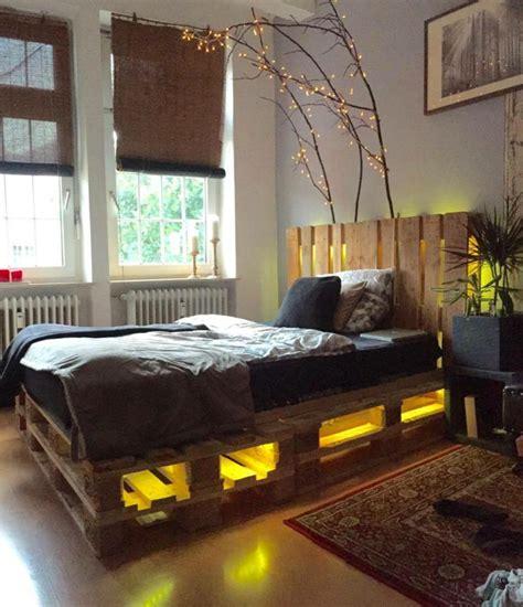 Bett Aus Paletten Beleuchtet by Interieur Ideen Mit Europaletten Bett Archzine Net