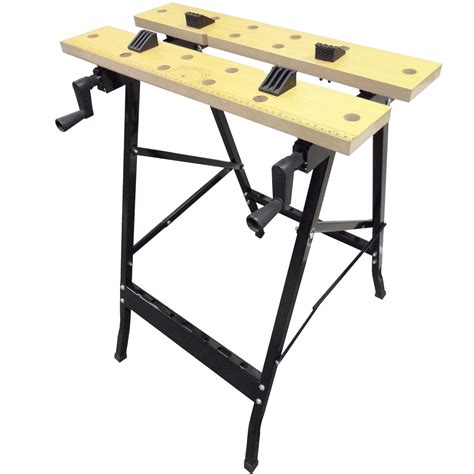 foldable work bench work bench mate portable folding workbench workmate saw jaw vice trestle cl ebay