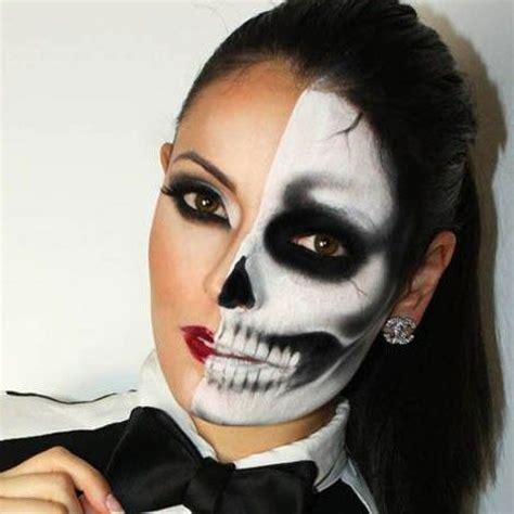 imagenes de uñas pintadas ala mitad mitad humano mitad esqueleto disfraz pinterest