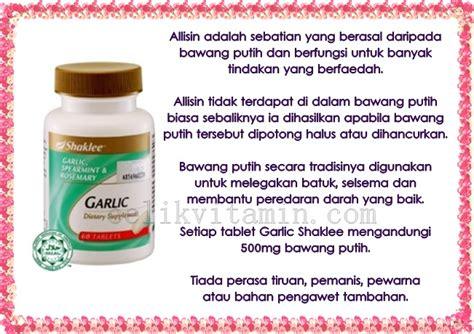 Vitamin Garlic Shaklee Masalah Keputihan Ketika Mengandung