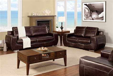 Espresso Living Room Furniture Tekir Espresso Living Room Set From Furniture Of America Sm6031 Sf Coleman Furniture