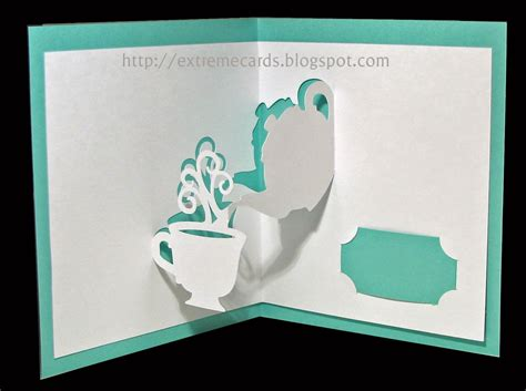 laser cut popup card template last minute s day cards