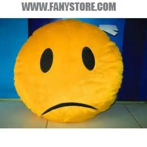 Bantal Emoticon Bantal Karakter boneka bantal emoticon sad fanystore