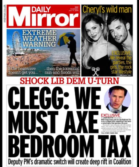 Bedroom Tax The Mirror Liberal Democrat Voice Bedroom Tax